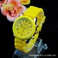 Marca de moda Unissex Quartz Lady assista homens mulheres relógios de pulso Analógico Relógios Desportivos Rose Gold Silicone relógios Dropship 6 cores