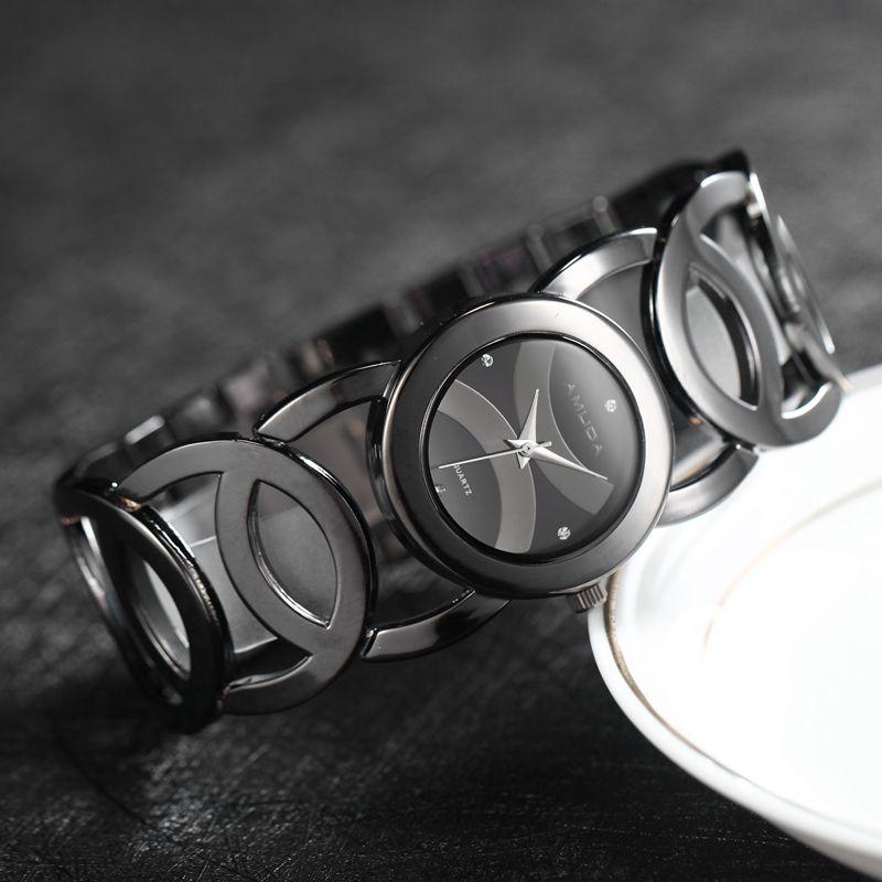 Luxury Brand Lady Silver Watches Women Full Stainless Steel Wristwatches Magic Women Bracelet Watch Ladies Wrist Watch Female