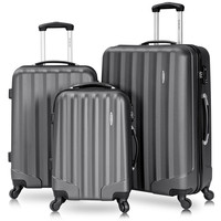 3 Piece Set 100% ABS Suitcase Set Carry on Travel Luggage with Spinner Wheels 20 24 28 inch Women Men Travel Bag maleta de viaje