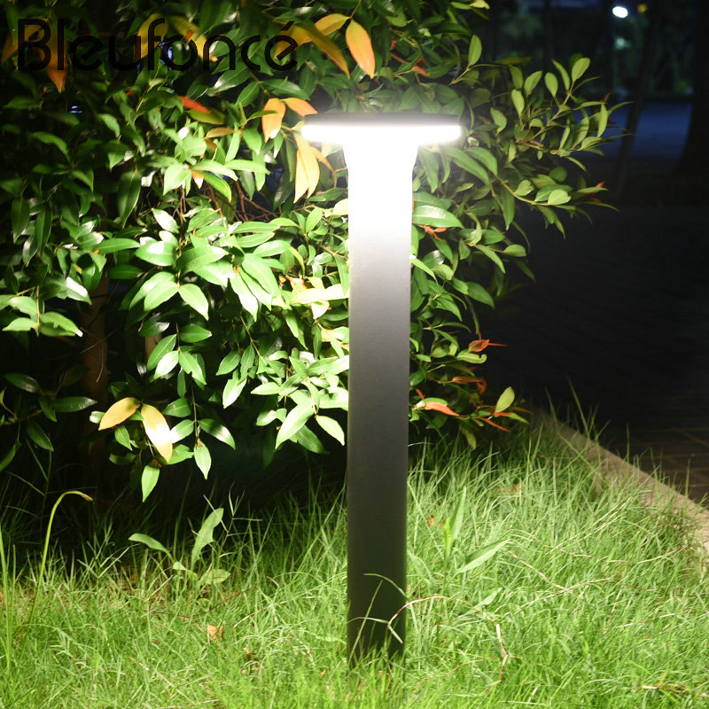 цены Outdoor Lawn Lamp Waterproof LED Fence Garden Light Modern Simple Home Street lights Landscape Light Park Lawn Lamps 220V BL109