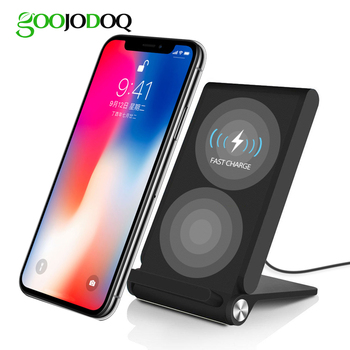 Fast Qi Wireless Charger Dock for iPhone X / 8 /8 Plus for Samsung Galaxy S8/S8 Plus/S7/S7 edge/S6 plus/Note 5 Wireless Charging
