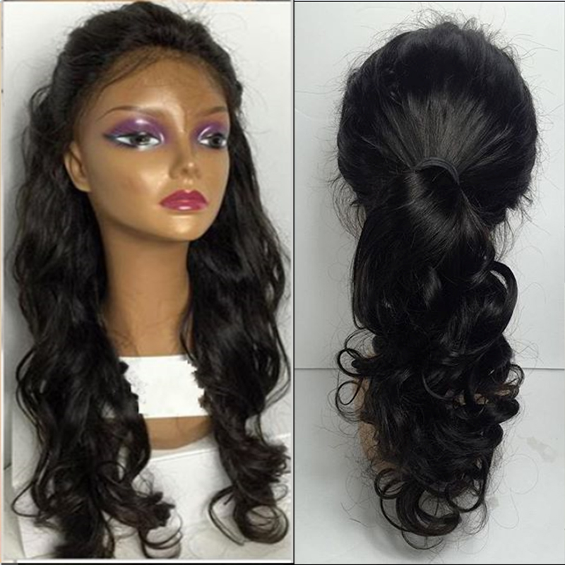 Natural Hairline Brazilian Full Lace Wigs 100 Human Hair Lace Front Wigs  Black Women Natural Wave Virgin Hair Wig With Baby Hair-in Human Hair Lace  Wigs ... fc07825e22