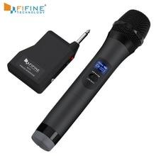 FIFINE UHF беспроводной микрофон системы для наружной части небольшой сценический бар Live Show family ktv с портативным приемник микрофона k025-1