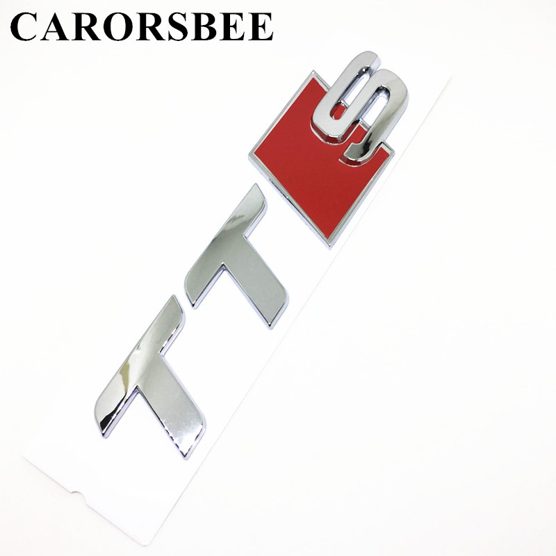 CARORSBEE High quality 3D ABS Plastic TTS Emblem Badge Auto Car stickers Decals For S3 S4 S5 S6 S7 S8 TT RS A1 A3 A4 A5 A6 A7 A8 universal car styling logo emblem metal license plate frame bolt screw for audi s line a4 a4l a6 a5 a7 a8l q3 q5 s5 tt tts