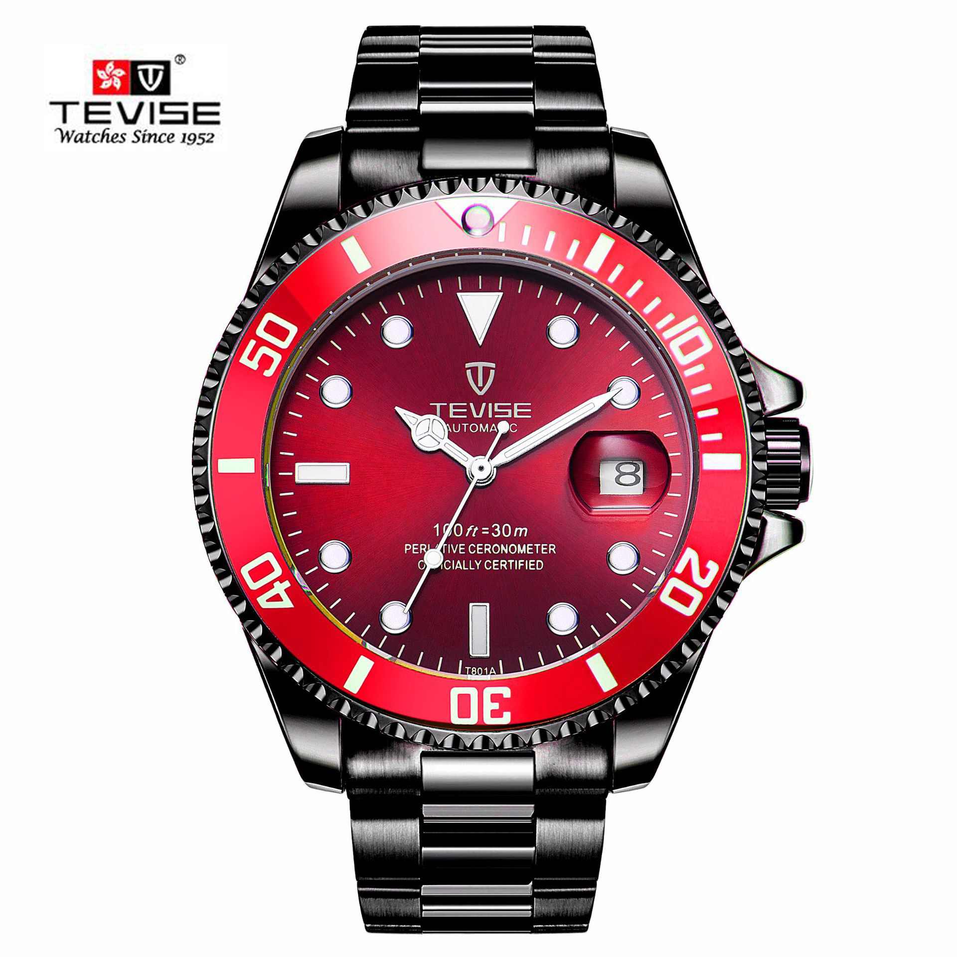 84abf6450e6 Brand TEVISE Relogio Automatico Masculino Men Mechanical Watches Fashion  Water ghost Waterproof Sport Business watch Male Clock