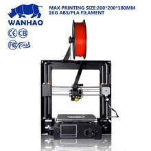 Низкая цена отлично подходит для DIY wanhao I3 плюс PLA 3d принтер с ЖК-дисплей дисплей и тестирования нити бесплатно