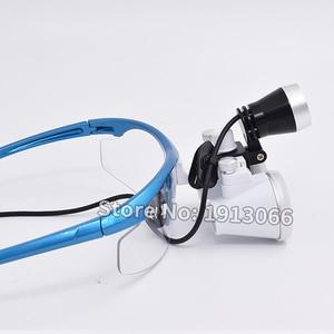 Image 2 - באיכות גבוהה קידום 3.5X420mm משקפת שיניים זכוכית מגדלת שיניים זכוכית מגדלת אופטית זכוכית LED נייד ראש אור מנורת עבור שיניים