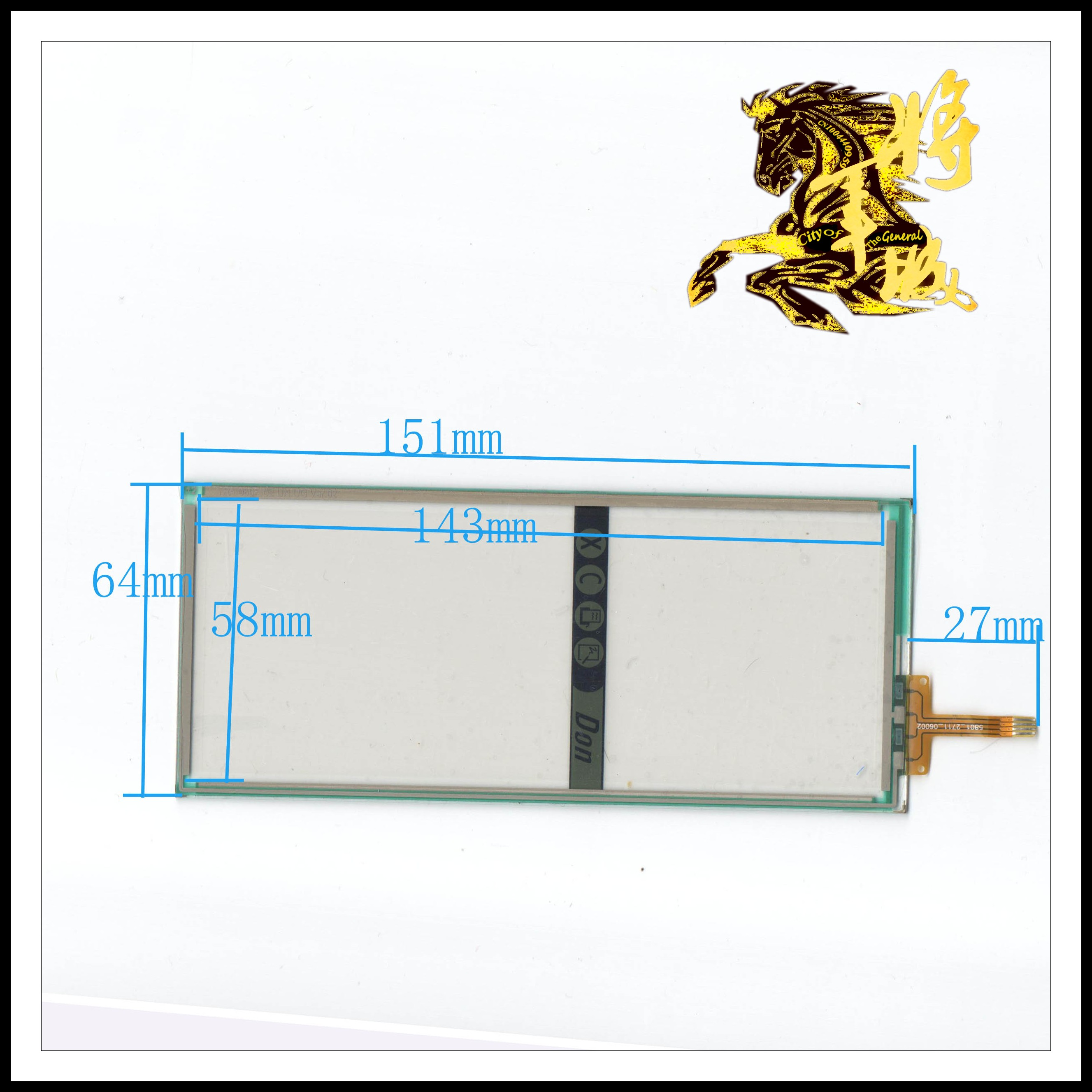 GENCTY For 6-inch four-wire resistive touch screen 151 * 64 W-Y