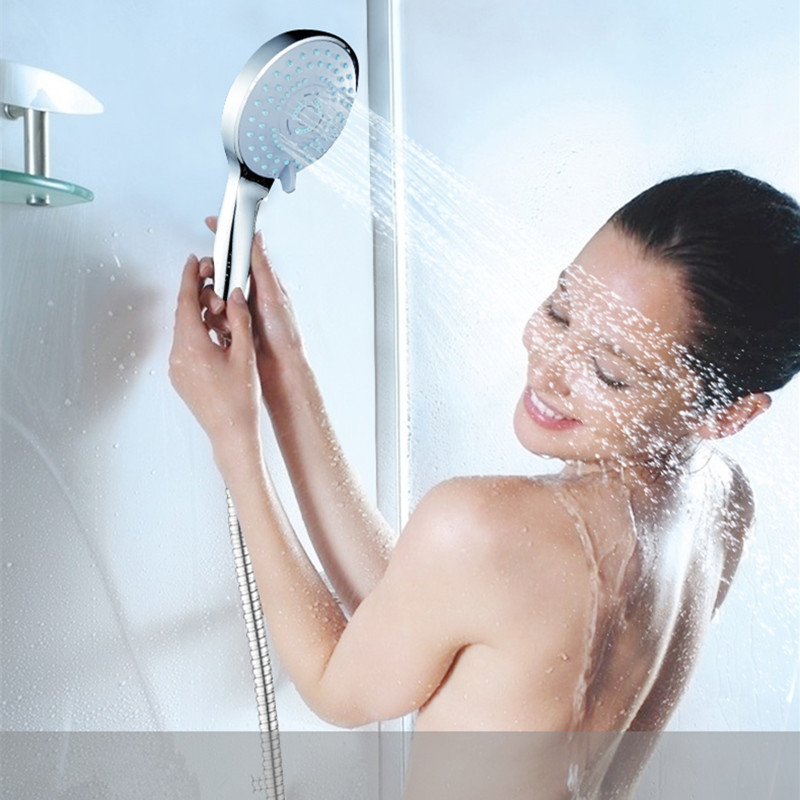 NEW PVIVLIS Big Rain Shower Round Shower Head ABS Plastic Hand Hold Rain Water-Saving Shower Bathroom Fixture Ducha Chuveiro