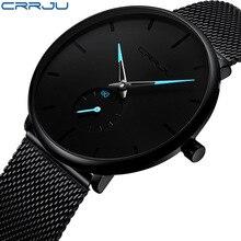 CRRJU Fashion Watches Mens Brand Top Luxury Quartz