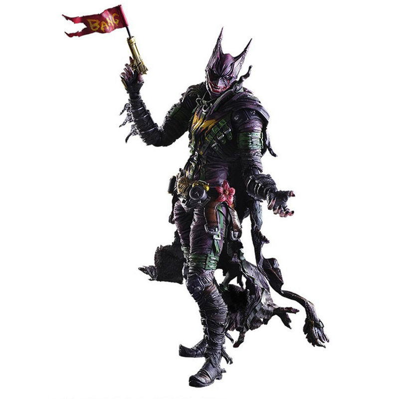 26cm Play Arts Kai Movable Figurine Rogues Gallery The Joker PVC Action Figure Toy Doll Kids Adult Collection Model Gift edwards eve the rogues princess