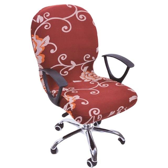 2017 Modern Real Elastic Spandex Office Chair Cover Seat Covers For  Computer Chairs Stretch Rotating Covering