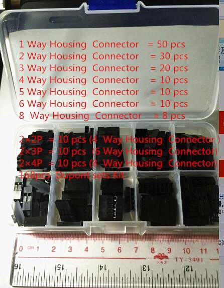 168pcs Dupont sets Kit with box 1P 2P 3P 4P 5P 6P 8P 2 2 2