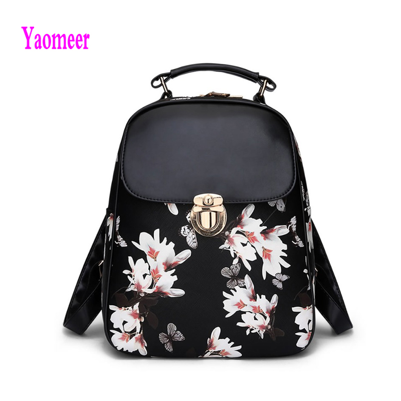 Popular Floral Leather Backpack-Buy Cheap Floral Leather Backpack ...