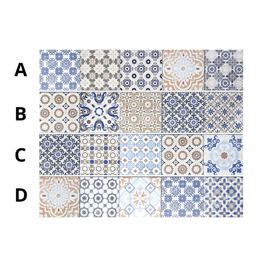 100*20cm Mediterranean Style PVC Wall Stickers Bedroom Living Room Toilet Floor Tile Stickers DIY Tiles Stickers