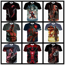 2016 New Arrive American Comic Badass Deadpool T-Shirt Tees Men Women Cartoon Characters 3d t shirt Funny Casual tee shirts tops