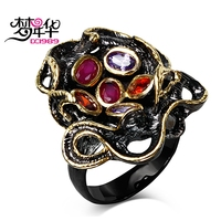 DreamCarnival 1989 Gift For Lover Hip Hop Fashion Jewelry Ring Fuchsia Purple Cubic DC1989 Anniversary Anillos