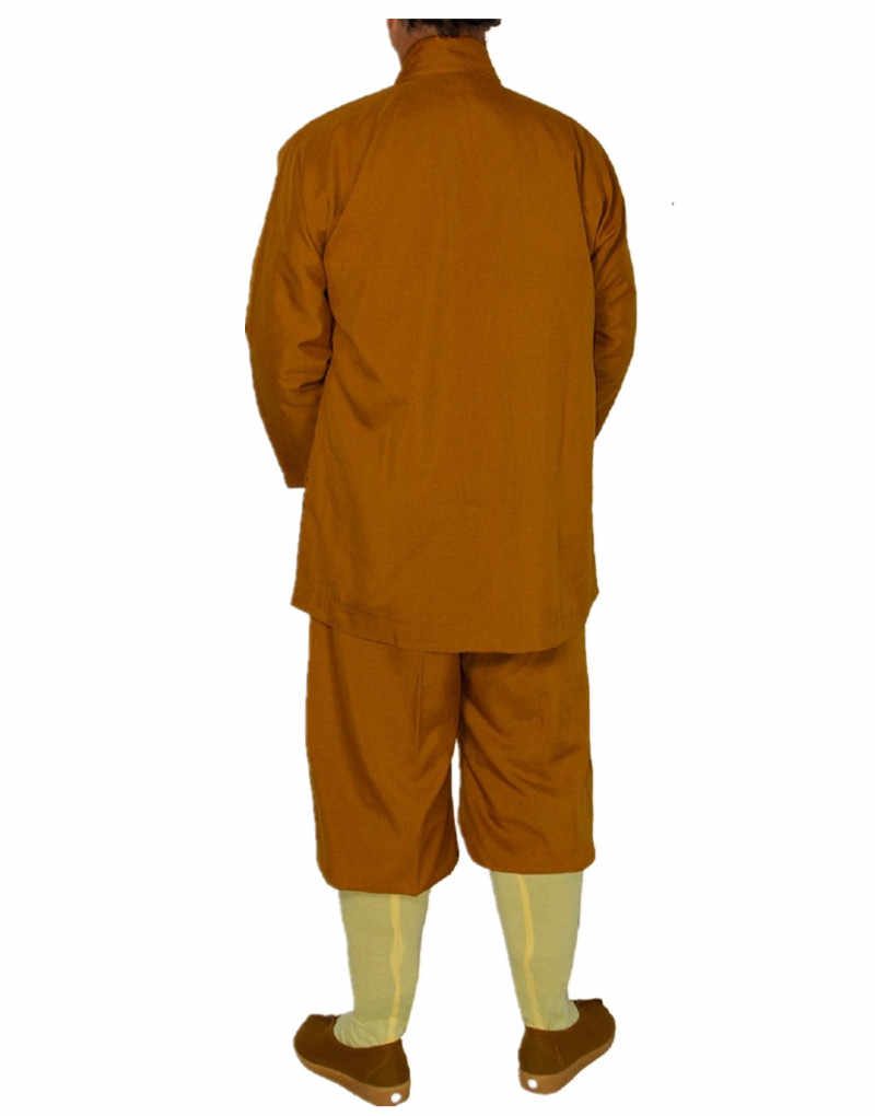Shanghai Storia Cinese degli uomini Brevi Abiti Dei Vestiti Shirt + Pants Set Monaco Buddista Robe Outfit Kung Fu Shaolin Temple Zen uniforme