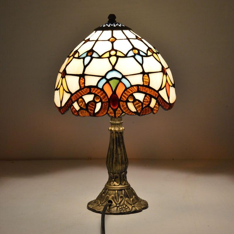 Настольная лампа Тиффани 8 дюймов классический европейский барокко пятнистости Стекло ночники E27 110-240 В