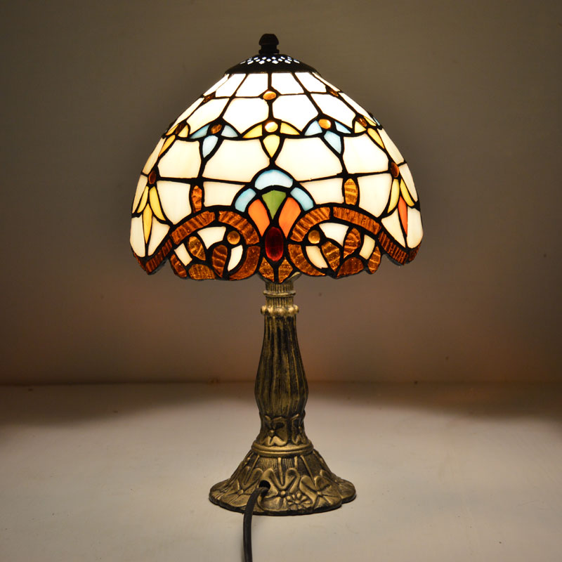 Tiffany Table Lamp 8 Inch Classic European Baroque Stained