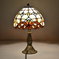 Tiffany Table Lamp 8 Inch Classic European Baroque Stained Glass Bedside Lamp E27 110 240V