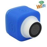 Blue Color 720P HD TF Card Record Wide Angle 120degree Mini Cude WIFI Camera With USB