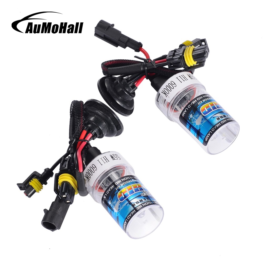 AuMoHall 55W Xenon HID Bulb Headlight Lamp Auto with Ballast Car Tuning H11 3000K 4300K 5000K 6000K 8000K 10000K 12000K 2pcs lot d2r 55w 12v car hid xenon bulb for replacement auto headlight lamp light source 4300k 5000k 6000k 8000k 10000k 12000k