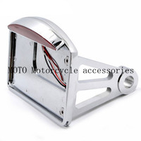 For Harley License Plate Bracket With LED Tail Brake Light Motorcycle Side Mount Tail Light Axle
