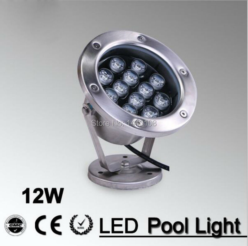 5pcs/lot 12W LED Fountain lamp Stainless steel IP68 Safety AC12V AC24V Swimming Pool/Ponds/Fountain Outdoor Recessed lighting