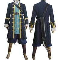 Пираты Карибского моря: dead Для мужчин не рассказывают сказки капитан Армандо salazar Косплэй Хеллоуин костюм наряд potc куртка Сапоги и ботинки д