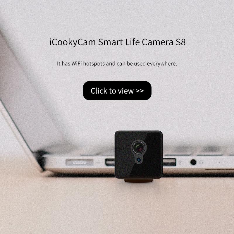 Image 4 - S8 Mini Câmera IP Wi Fi de Segurança Em Casa Câmera de Vigilância  de Rede Sem Fio Wifi Night Vision Baby Monitor Câmera 8 horas de  trabalhoCâmeras de vigilância