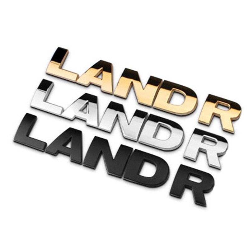 4cm Separate Letters Chrome Metal Refitting Car Styling Emblem Badge Auto Exterior 3D Sticker Hood Trunk Logo for Land Rover bbq fuka abs car chrome 740li rear trunk letters badge emblem styling sticker fit for bmw e23 e32 e38 e65 e66 7 series