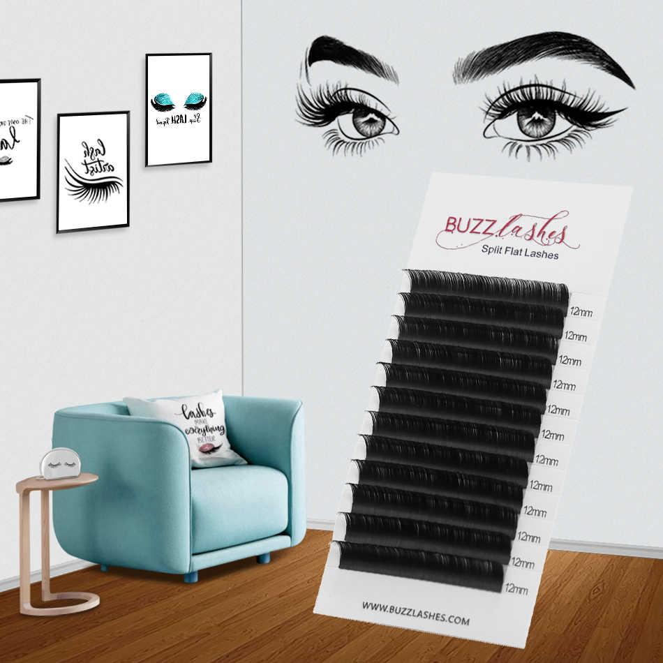 ce1d7894a92 Buzz Lashes Cashmere Flat Lashes Ellipse Lash Extensions Matte Split Tips c  d Curl Eyelash Extension Supplies