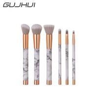6Pcs Blending Pencil Foundation Eye shadow Makeup Brushes Eyeliner Brush  F814