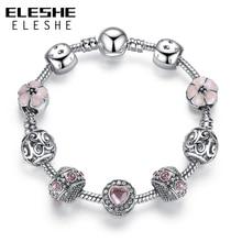 Bracelets For Women Silver Crystal Beads Bracelet Snake Chain Charms Bracelets Fit Original Bracelet Bangle Authentic Jewelry 49