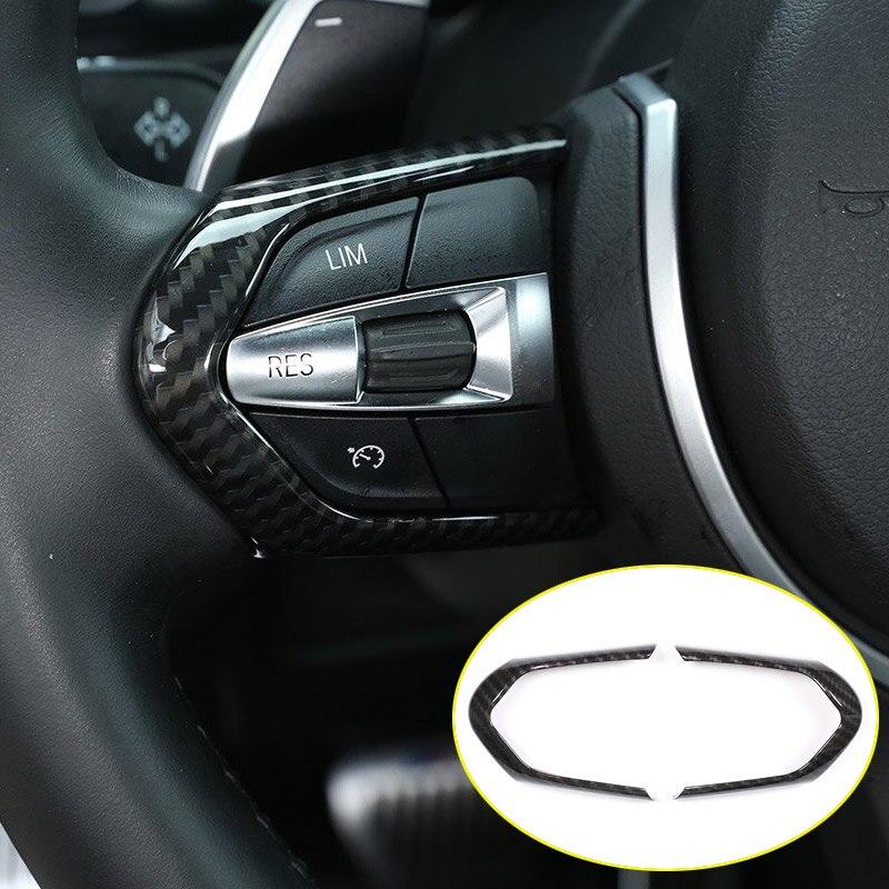 Carbon Für BMW F20 F22 F21 F30 F32 F33 F36 F06 F12 F13 X5 F15 X6 F16 M- sport ABS ChromSteering Rad Dekoration Rahmen Trim