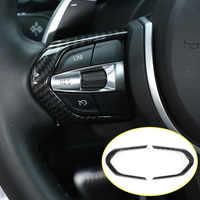 Carbon Fiber For BMW F20 F22 F21 F30 F32 F33 F36 F06 F12 F13 X5 F15 X6 F16 M-Sport ABS ChromSteering Wheel Decoration Frame Trim