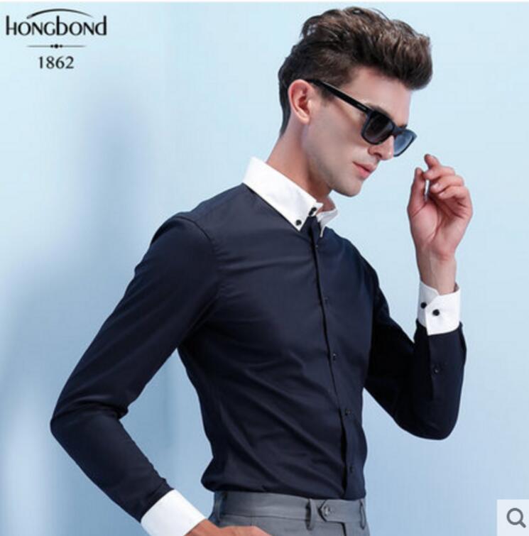 Aliexpress.com : Buy 100%Cotton Purple Pink Sky Blue White Shirt ...