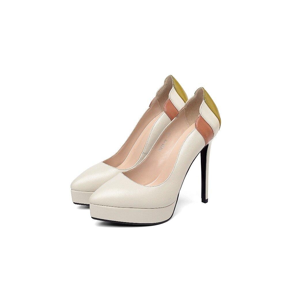 De Mujer Capa A Zapatos Dedo Multi Individuales Pie Mujeres Primera Costura Mano Cuero color Bombas Black Del Genuino beige Hecho Suave Puntiagudo dwppqZxX8