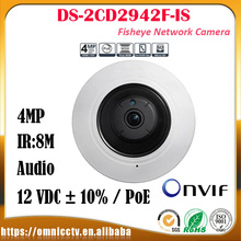 Hikvision CCTV PTZ IP 4MP Camera DS-2CD2942F-IS IR Audio WDR H.264 DNR Built-in Mic Night version Surveillance Fisheye Camera