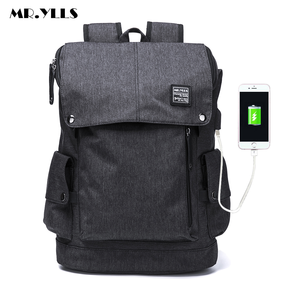 MR.YLLS 15Laptop Backpack External USB Charge Computer Backpacks Anti-theft Waterproof Bags for Men Women School Large Capacity