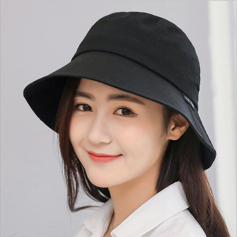 040138849ca BINGYUANHAOXUAN New Spring Hat For Women Men Simple Fisherman Hat Female  Flat Hat Folding Bucket Hat Bob Girl Panama Fishing Cap-in Bucket Hats from  Men s ...