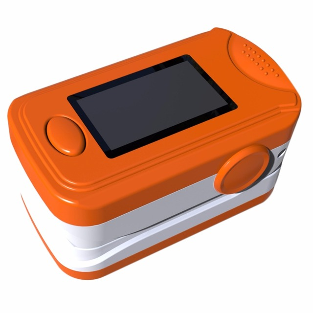 High Quality Finger Tip Pulse Oximeter Blood Oxygen Saturation Monitors Orange Color