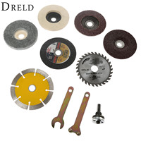 10Pcs Conversion Shank Accessories Spanner Drill Metal Cutting Polishing Pad Marble Grinding Wheel Saw Blade For