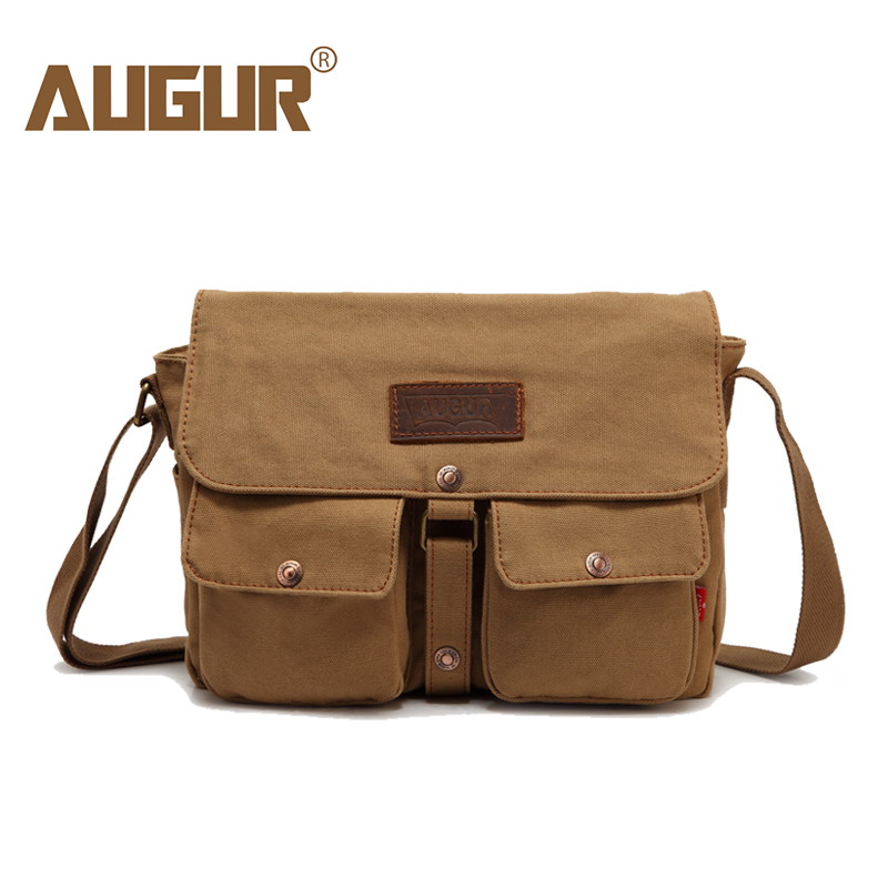 AUGUR 2018 Fashion Men Crossbody Bags Casual Vintage Canvas shoulder Bag For Men's High Quality Travel Bag Male Messenger Bags rubynovich серьги с подвесками кольцами
