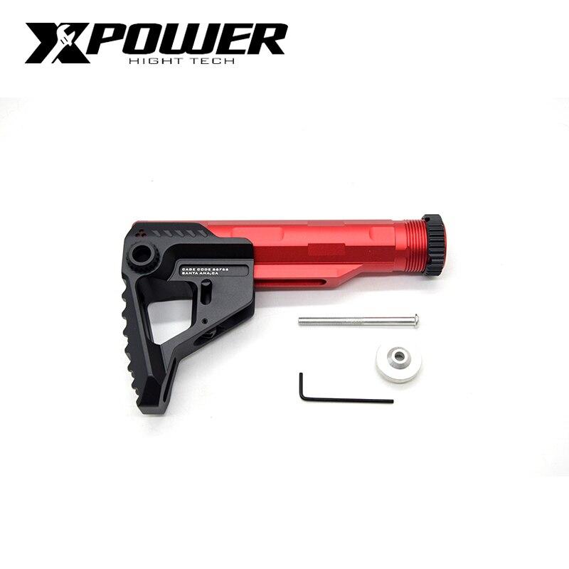 XPOWER SI Stock tampon Tube AEG CNC réglable pour Paintball Airsoft Air Guns Gel Blaster Gen9 boîte de vitesses pistolet accessoire de chasse