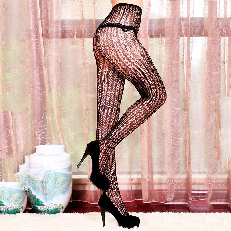 b6a4afd10f022 ... LIMSISNIW Thin Looking Fashion Woman Sexy Fishnet Tights with Striped  and Wave Pattern Ladies Tattoo Net ...