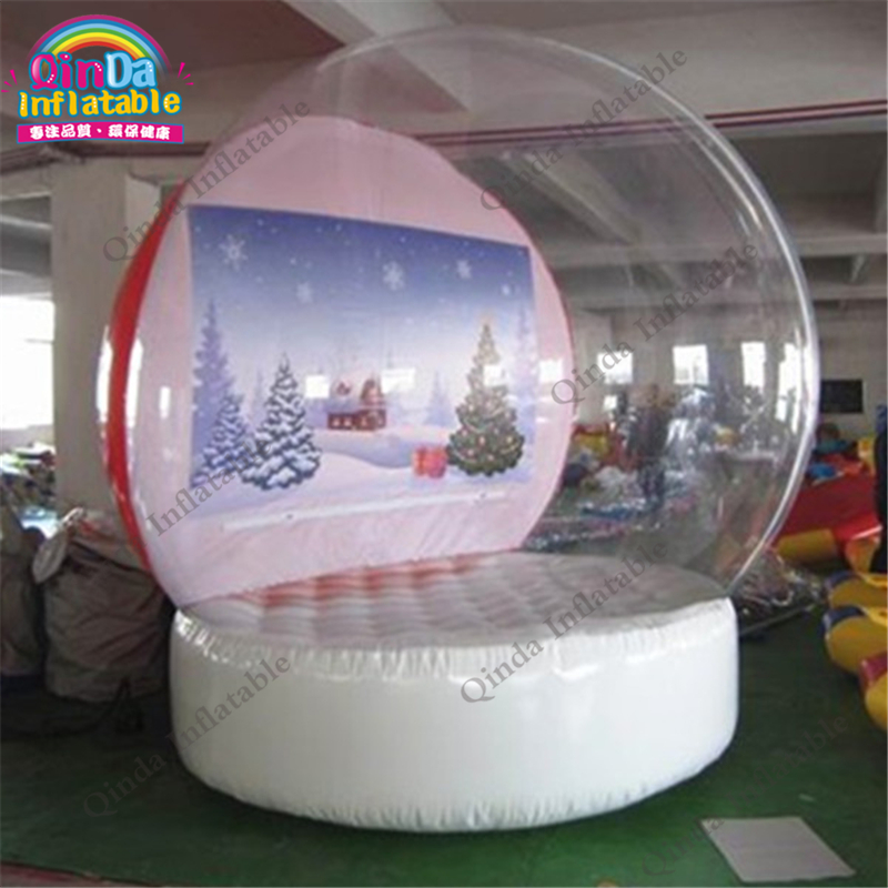 лучшая цена Let it snows Inflatable Snow Globes Christmas Bubble Snow Globes