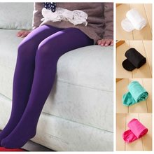 2019 Baby Girls Pantyhose 2-12 Years Children Stockings Ballet Tights For Girl Dancing Pants Kids Ballet Pant Trouser Pure Solid(China)