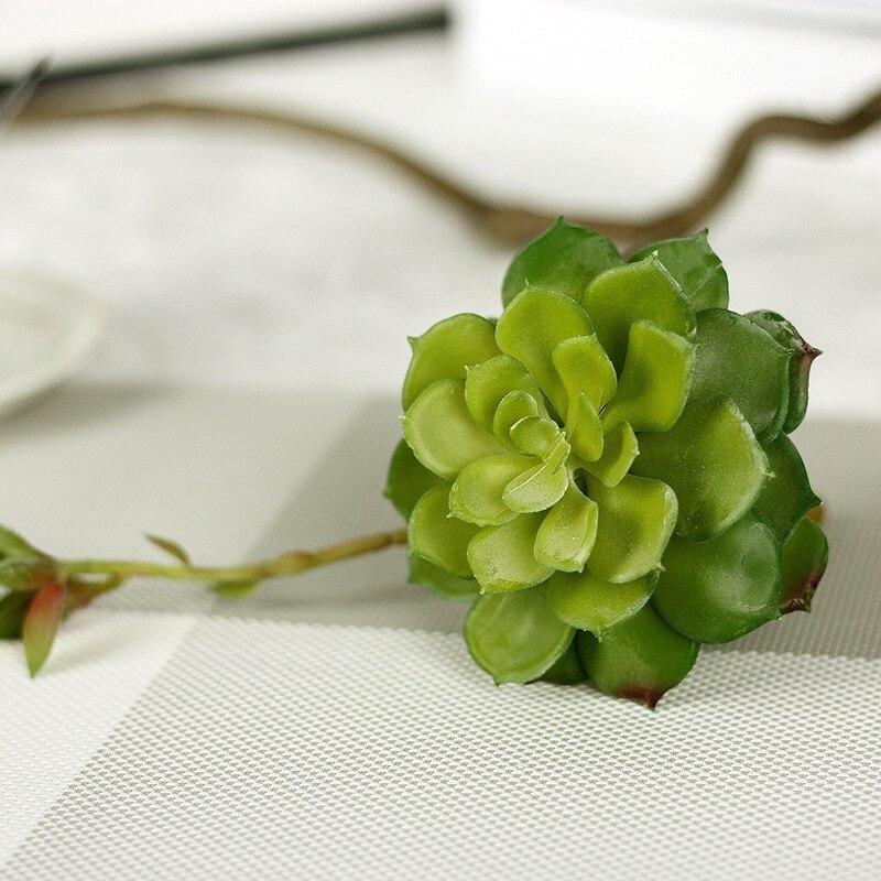 1Pcs Simulation Succulent Conjoined with Flower Pauline DIY Artificial Succulents Plants Home Garden Decoration C